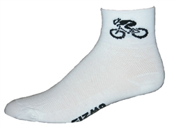 Bicycle Socks - White with Black