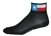 Texas Flag Socks - black