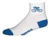Bicycle Socks - white w/royal