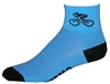 Bicycle Socks - lt. blue