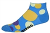 Polka Dot Socks - blue