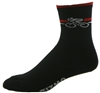 "Bicycle Socks 5"" - black/red"