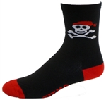 "Pirate 5"" Cuff Socks - black"