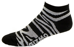 Zebra Socks - black