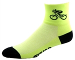 Bicycle Socks - neon yellow