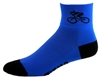 Bicycle Socks - electric blue