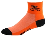 Bicycle Socks - neon orange