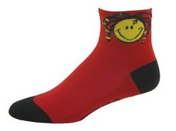 Smile Mon! Socks - red