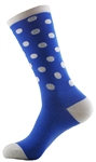 "Polka Dots Tall Socks 8"" - Blue"