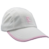 Gizmo Girl Running Hat - White with Pink Trim