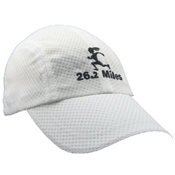 Gizmo Girl with 26.2 Running Hat - White