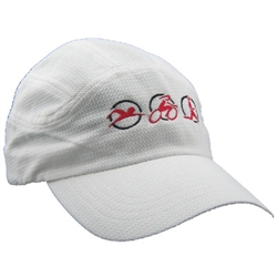 Triathlon Running Hat - White