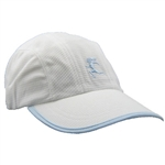Gizmo Girl Running Hat - White with Light Blue Trim