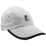 Gizmo Girl Running Hat - White with Black Trim