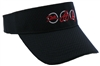 Triathlon Running Visor - Black