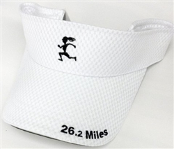 Gizmo Girl w/26.2 - Running Visor - White