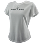 Addicted to Running - Tech Running Shirt - white