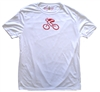 GIZMO Cycling G-Man Bicycle Tech Shirt - White/Red