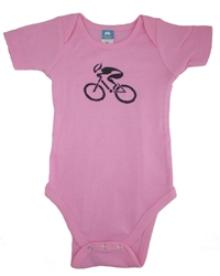 G-Man Bicycle Onesie - Pink