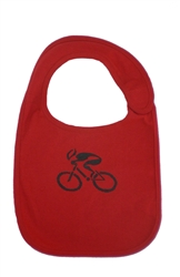 G-Man Bicycle Infant Bib - Red