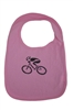 G-Man Bicycle Infant Bib - Pink