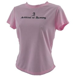 Addicted to Running - Tech Running Shirt - pink