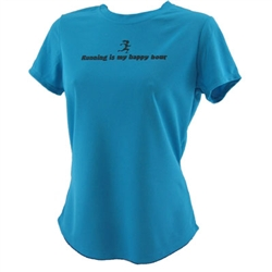 Running Is My Happy Hour - Tech Running Shirt - Turquoise