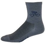 "Bicycle Wooly-G 5"" cuff Socks - granite"