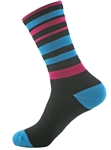 "Wooly-G Velo Stripes 6""- Turquoise/Pink"