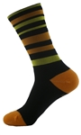 "Wooly-G Velo Stripes 6""- Black/Orange"