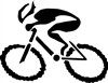 "G-Man Bicycle Die Cut Sticker 6"" - Black"