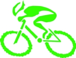 "G-Man Bicycle Die Cut Sticker 6"" - Green"
