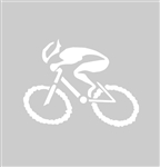 "G-Man Bicycle Die Cut Sticker 6"" - White"