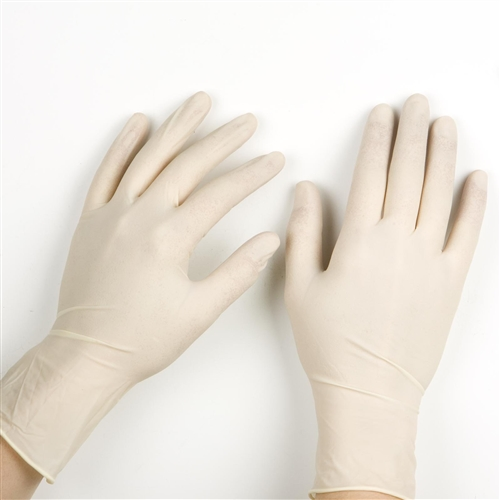 Positive touch latex gloves