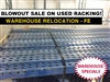 Used Pallet Rack Blowout Sale!