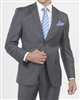 Solid Charcoal Classic Wool Suit