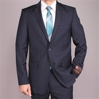 Navy Euro Slim Suit