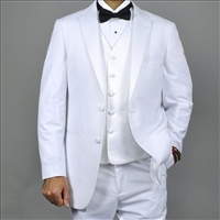Classic Fit - White - Notch Lapel Tuxedo