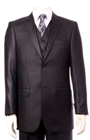Mens 3-Piece Sharkskin Suit