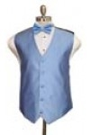Textured Solid tone on tone vest with bowtie