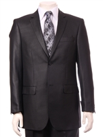 Modern 2pc Sharkskin Suit, Flat Front Slacks