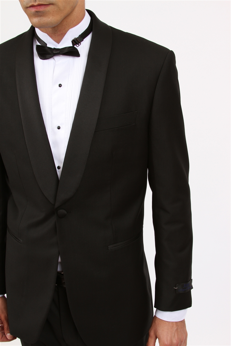 1 Button Shawl Collar Slim Fit Tuxedo