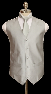 Textured Solid tone on tone vest with tie and hanky