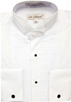 wing tip cotton rich frenchcuff tuxedo shirt