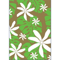 Monstera Nui Green/Gold Foil Note Cards