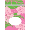 Hibiscus Nui Pink Medium Stand Up Zipper Pouch