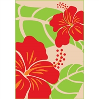 Hibiscus Nui Tan Glitter Note Cards