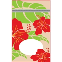 Hibiscus Nui Tan Small Stand Up Zipper Pouch - Bulk 100-count