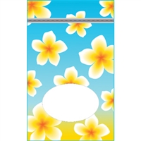 Plumeria Nui Large Stand Up Zipper Pouch