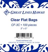 "Clear Flat Cello Bags 3"" x 5"" - Bulk 100-count"